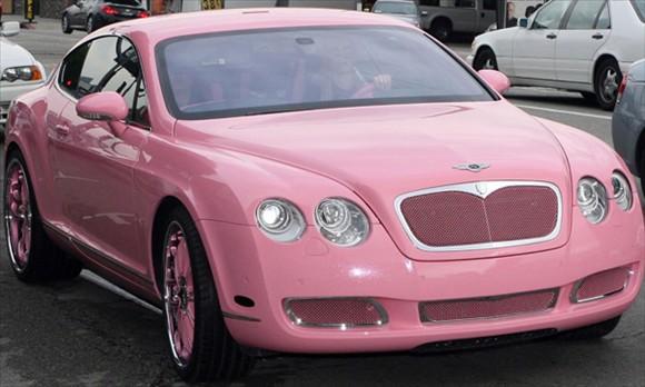 Paris-hilton-pink-bently-car