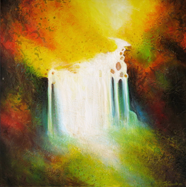 Abstract-landscape-paintings-autumn-falls